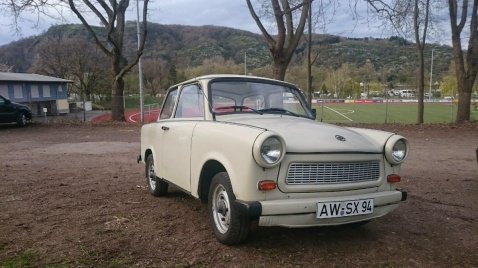 Trabant, often described as weedwackers in a plastic box